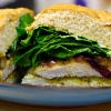Grilled Chicken and Pesto Sandwich