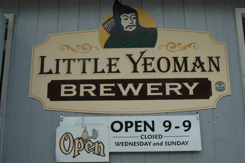 Sign outside Little Yeoman's Brewery.