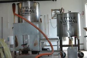 Inside the brewing room at Little Yeoman's Brewery.