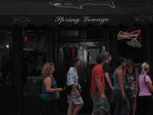 Outside of Spring Lounge (NYC)